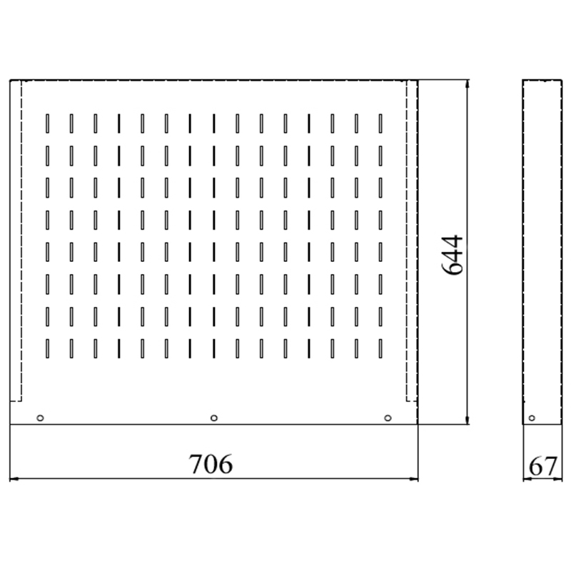 Чертеж навесного экрана KV P4-1