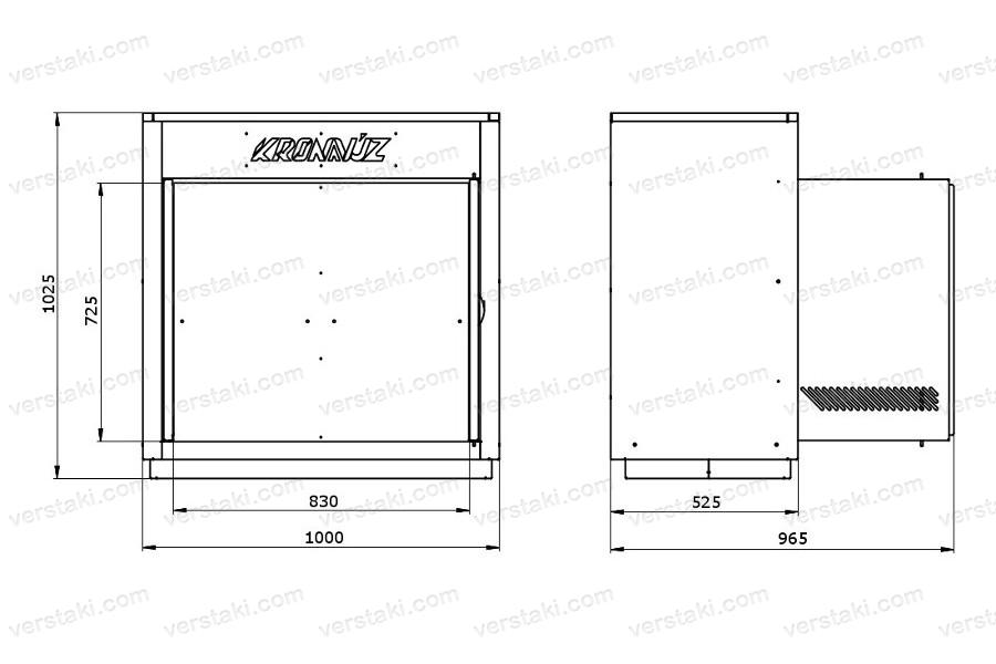 Чертеж каркаса инструментального шкафа KronVuz Box 2000