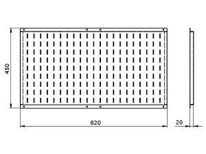 Чертеж длинного экрана KV-P1.1