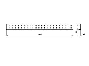 Чертеж навесного держателя для лотков KV-P6-3