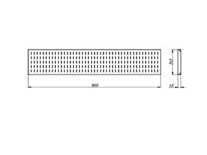 Чертеж навесного экрана KV-P6-1