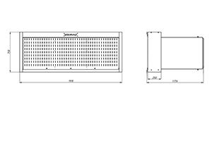 Чертеж инструментального навесного шкафа с дверцей KronVuz
