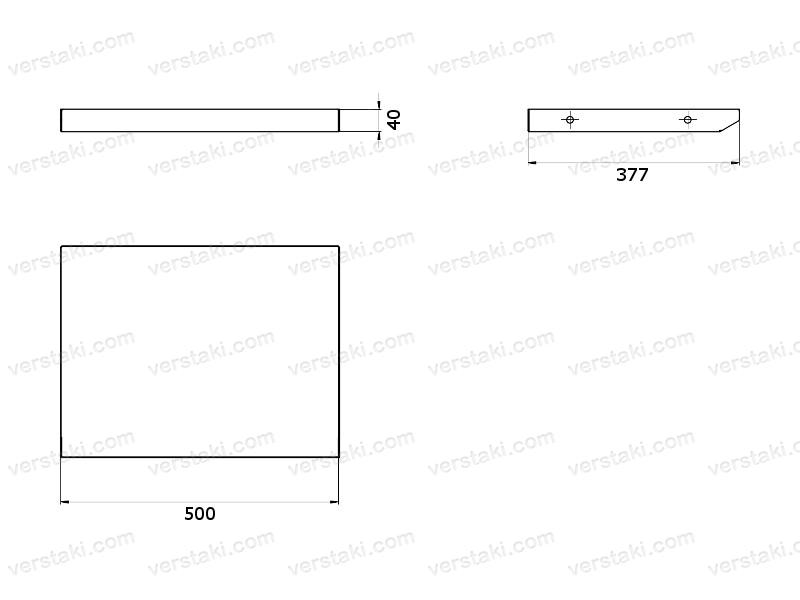 Комплект нижней полки и задней стенки ЦПВС-1