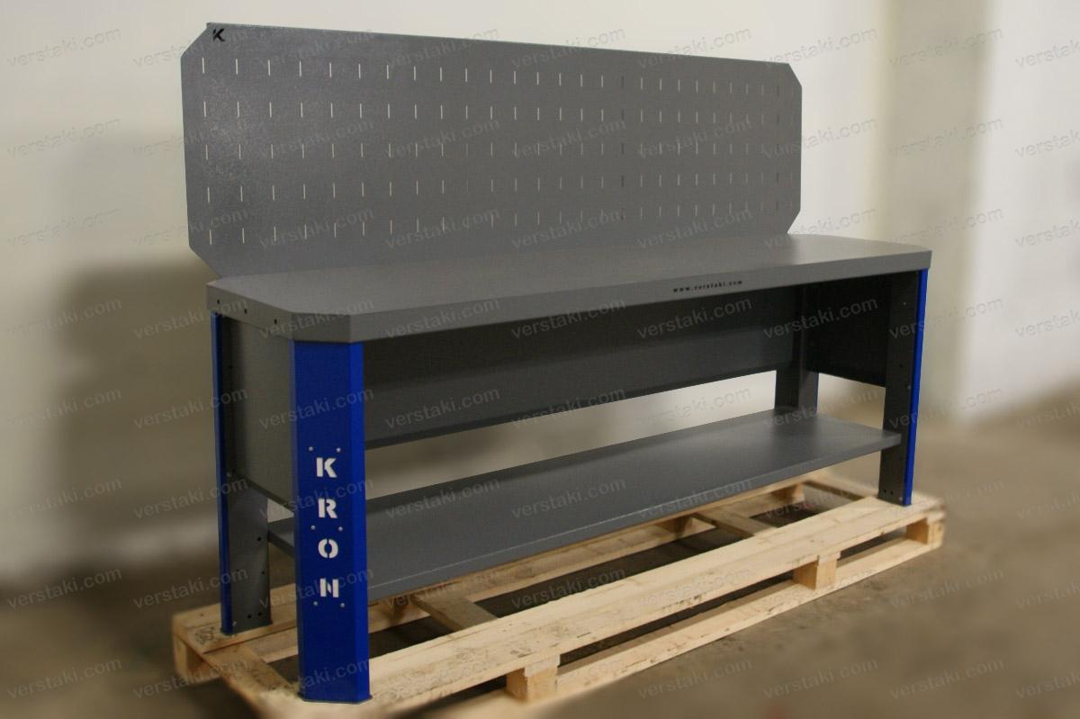 Бестумбовый слесарный верстак Гефест-ВС-000-ЭП длиной 2240 мм