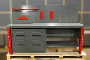 Двухтумбовый слесарный верстак серии Гефест-ВС-4400-ЭП