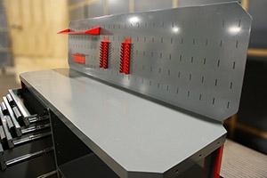 Столешница слесарного металлического верстака Гефест-ВС-4400-ЭП