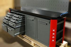Выдвижные ящики установленные на верстаке серии  Гефест-ВС-5511-ЭП