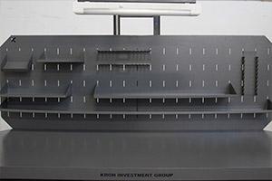 Экран с навесными полками на верстаке Гефест-ВС-901-ЭПО