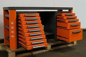 Выдвижные ящики слесарного верстака Гефест-ВС-905