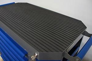 Фото инструментальной тележки Гефест-ТИ-06 серо-синего цвета вид сверху
