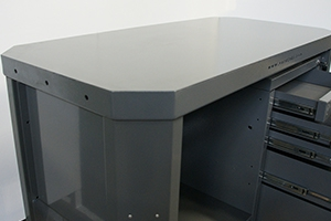 Слесарный однотумбовый верстак Гефест ВС-05 вид сбоку