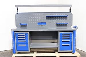 Слесарный верстак Гефест-ВС-505-ЭПОБ-Р1 вид спереди
