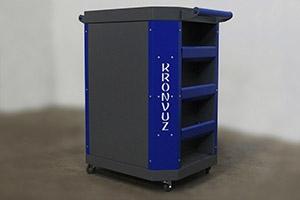 Тележка инструментальная Гефест-ТИ-06 серо-синяя