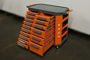 Фото инструментальной тележки Гефест-ТИ-010.06 с открытыми ящиками