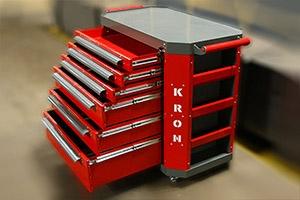 Выдвижные ящики для хранения инструмента встроенные в тележку Гефест-ТИ-6