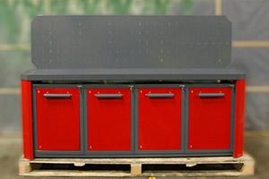 Четырехтумбовый слесарный верстак серии Гефест-ВС-1111
