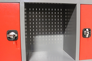 Фото перфорированного экрана шкафа KronVuz-Box-7042