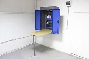 Стол в открытом виде шкафа навесного серии KronVuz