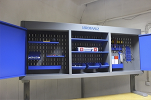Навесной металлический шкаф серии KronVuz