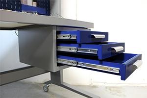 Выдвижные металлические ящики для рабочего места