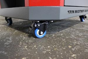 Фото колес с тормозом тележки Гефест-ТИ-06