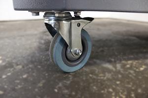 Фото колес тележки серии Гефест-ТИ-0 (синего цвета)