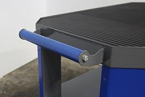 Фото ручки тележки серии Гефест-ТИ-0 (синего цвета)