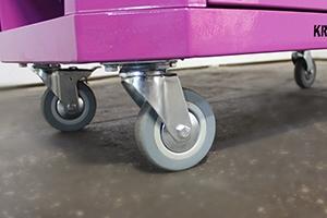 Фото поворотных колес на тележке Гефест-ТИ-6
