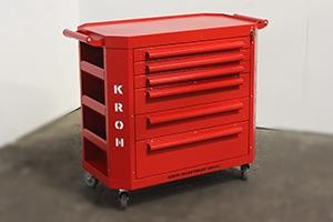 Фото тележки Гефест-ТИ-6 красного цвета общий вид