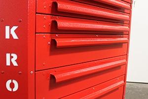 Фото выдвижных ящиков тележки Гефест-ТИ-6