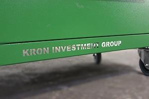 Надпись на тележке Гефест-ТИ-6 зеленого цвета