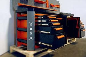 Фото выдвижных ящиков слесарного верстака Гефест-ВС-5225-ЭПБ