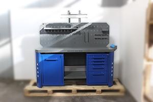 Фото верстака серии Гефест-ВС-105-ЭПОБ вид спереди
