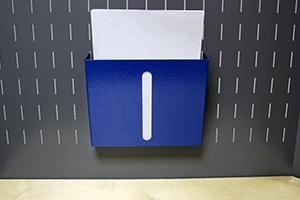 Навесной лоток для бумаг вид спереди