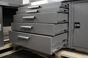 Выдвижные металлические ящики набора серии Гефест