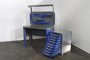 Вид сбоку комплекта мебели Гефест-НМ-11