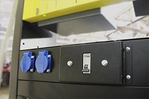 Автомат защиты и блок розеток рабочего места KronVuz Pro