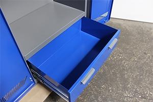 Фотография выдвижного металлического ящика