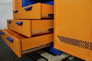 Металлические выдвижные ящики