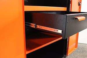 Фото металлического выдвижного ящика в открытом виде