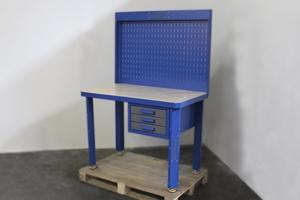 Вид сбоку металлического стола серии KronVuz