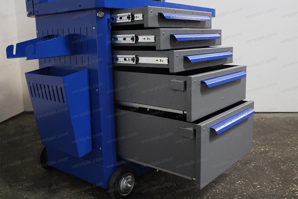 Металлические выдвижные ящики тележки серии KronVuz