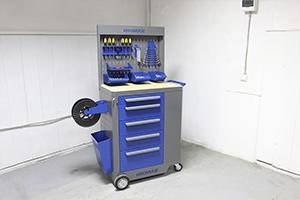 Фото тележки инструментальной KronVuz TB 501 (серо-синей)