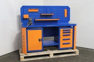 Фото слесарного верстака Гефест-ВС-105-ЭП-Т3 (сине-оранжевый)