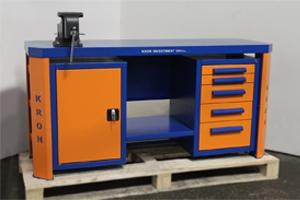 Фото слесарного верстака Гефест-ВС-105-Т3 (сине-оранжевый)