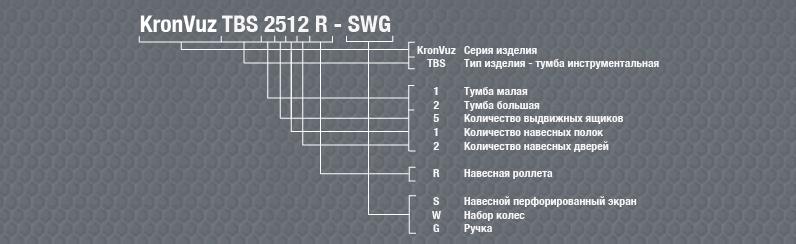 Расшифровка инструментальных тумб KronVuz
