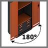 Открытие дверей шкафов kronvuz на 180 градусов