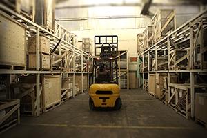 Стеллажи склада готовой продукции