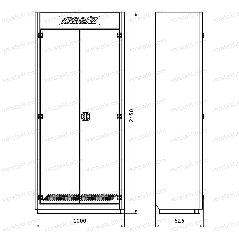 Чертеж шкафа KronVuz Box 1000R